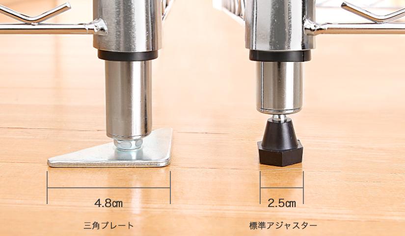 19mm三角プレート脚