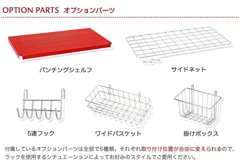 付属しているオプションパーツは全部で5種類